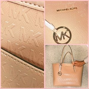 Michael Kors Bag JetSet Travel Patent Leather Tote